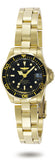Invicta Women's Pro Diver Quartz 200m Gold Toned Stainless Steel Watch 8943