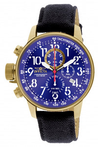 Invicta Men's I-Force Chronograph Tachymeter Blue Dial Cloth Watch 1516