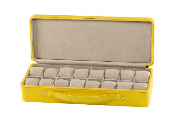 Invicta 16 Slot Yellow Watch Collector Leatherette Display Case IPM144