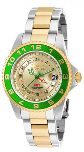 Invicta Women's Pro Diver 200m Green Bezel Two Toned Stainless Steel Watch 18253