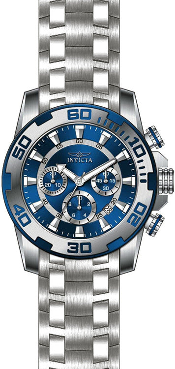 Invicta Men's Pro Diver Chronograph 100m Stainless Steel Watch 22319