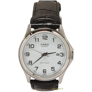 Casio Men's Black Leather Casual Analog Watch MTP1183E-7B