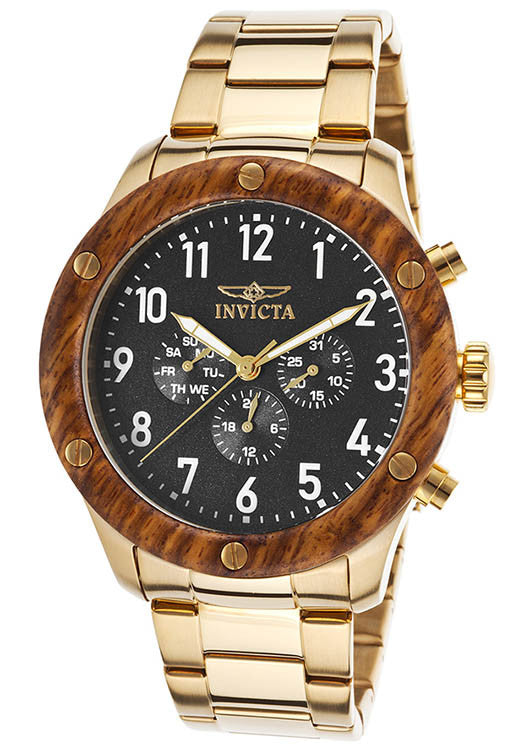 Invicta Men's Specialty Chronograph 100m Gold Plated Stainless Steel Watch 20487