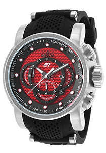 Invicta Men's S1 Rally Chronograph Red Dial Black Silicone Watch 19319