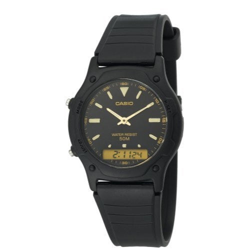 CASIO ANALOG DIGITAL MENS WATCH DUAL TIME AW49HE-1A
