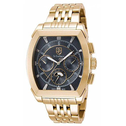 S. Coifman Men's Chronograph Quartz Gold Plated Stainless Steel Watch SC0094