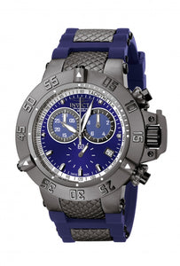 Invicta Men's Subaqua Chronograph Stainless Steel Blue Polyurethane Watch 5509