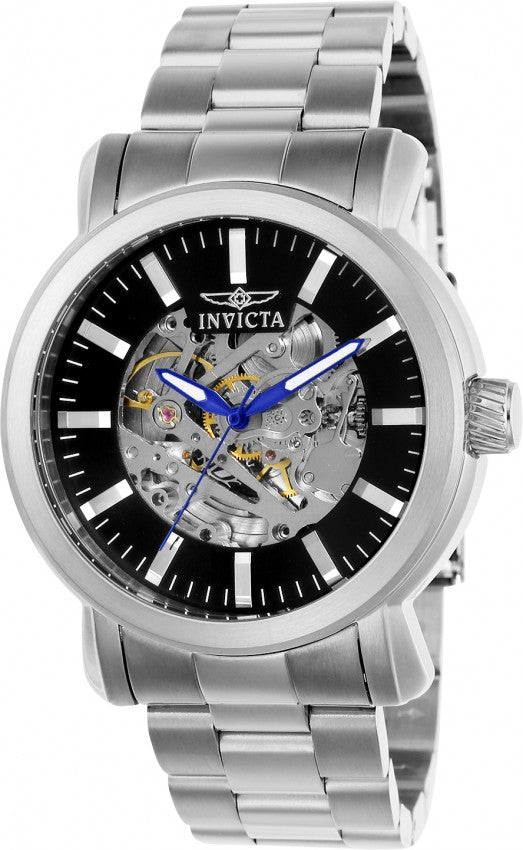 Invicta Men's Vintage Automatic 3 Hand Black Dial Watch 22574