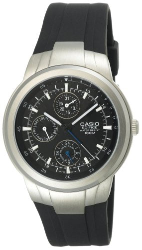 Casio Men's Edifice Chronograph 100m Analog Black Resin Watch EF305-1AV