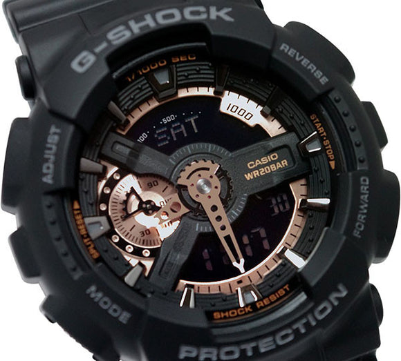 Casio G-Shock X-Large Analog-Digital Rose Gold on Black Watch GA110RG-1A