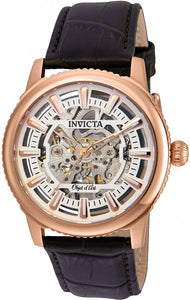 Invicta Men's Objet D'Art Automatic Stainless Steel Brown Leather Watch 22612