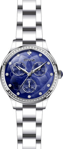 Invicta Women Wildflower Quartz Chrono 100m Blue MOP Stainless Steel Watch 29091
