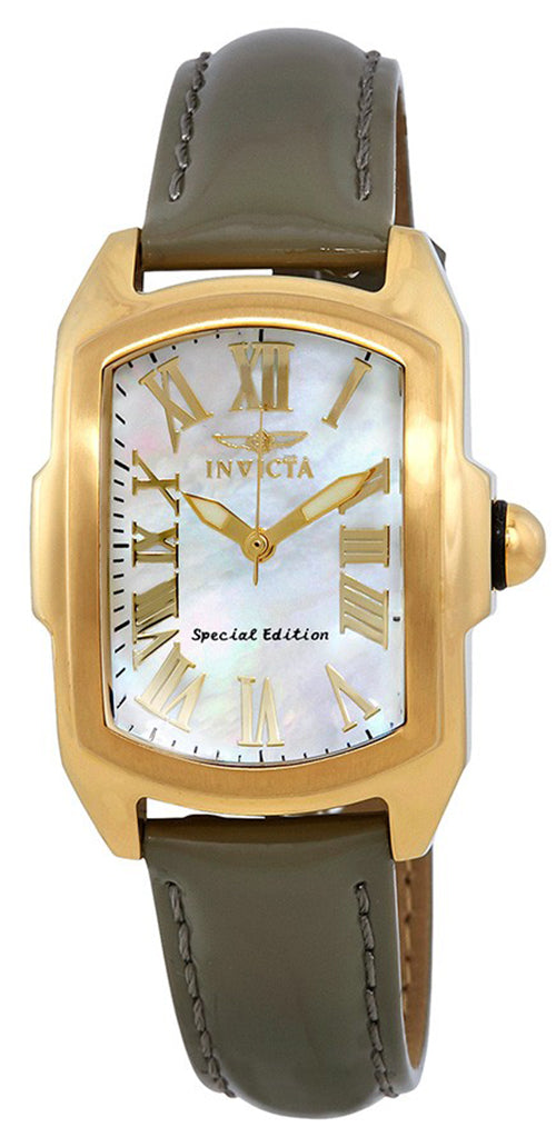 Invicta Women's Lupah Gold Tone Stainless Steel Interchangeable Leather Watch 20457