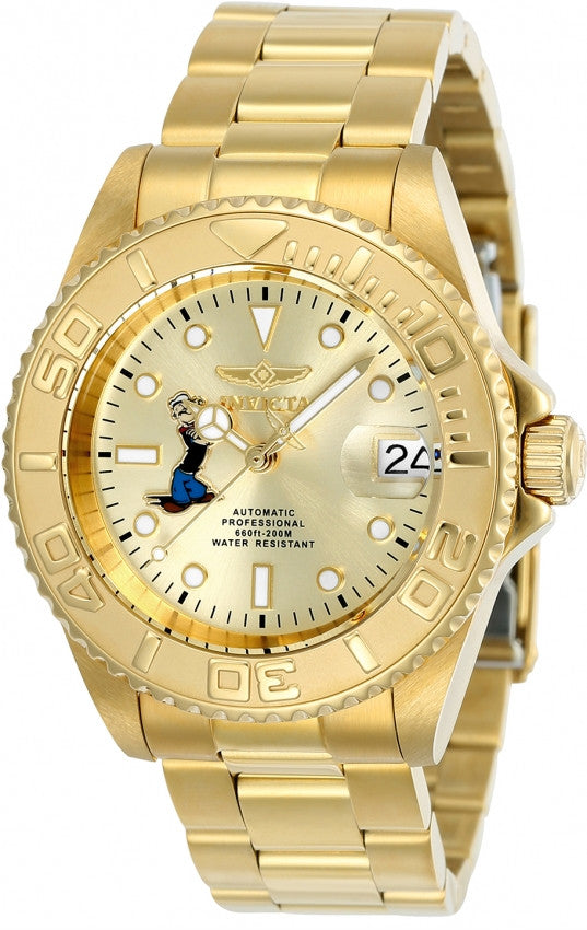 Invicta Men's Character Automatic 3 Hand Champagne Dial Watch 24489
