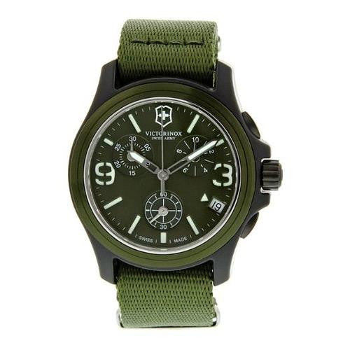 Victorinox Swiss Army Men's Chrono Green Stainless Steel & Nylon Watch 241531