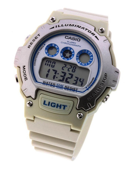 Casio Men's Chronograph Alarm LCD Digital Sports Watch W214H-8A