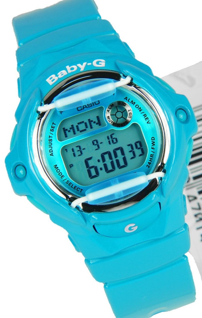 Casio Baby-G Quartz Digital 200m Blue Resin Watch BG169R-2B