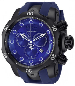 Invicta Men's Venom Chronograph 1000m Quartz Blue Polyurethane Watch 11972
