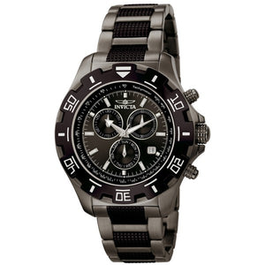 Invicta Men's Specialty Chronograph Black/Gunmetal Stainless Steel Watch 6412