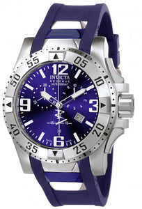 Invicta Men's Excursion Chronograph Stainless Steel Blue Polyurethane Watch 6263