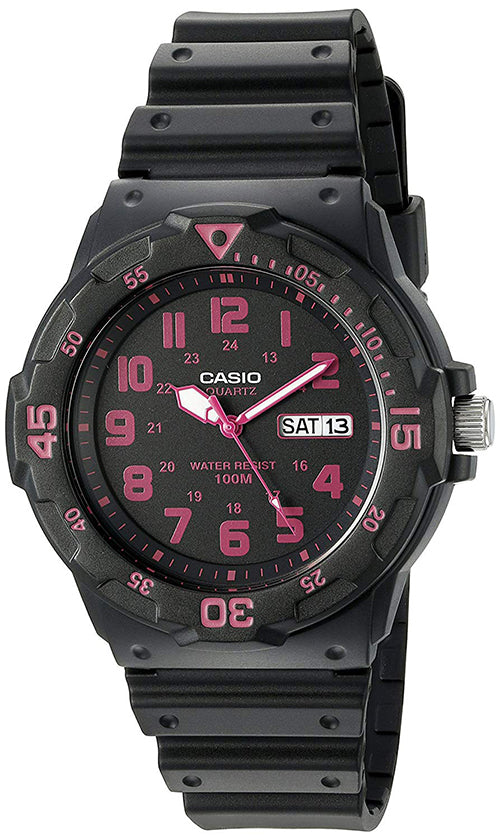 Casio Men's Quartz 100m Day/Date Black Resin Watch MRW200H-4CV