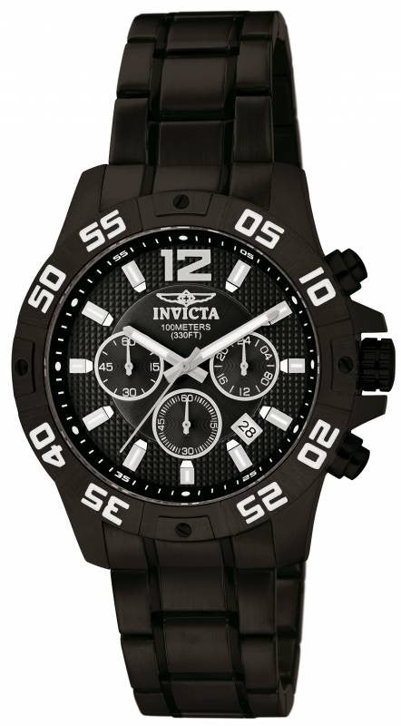 Invicta Men's Specialty Chronograph Quartz Black Stainless Steel Watch 1505