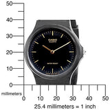 Casio Black Analog Water Resistant Casual Watch MQ24-1E