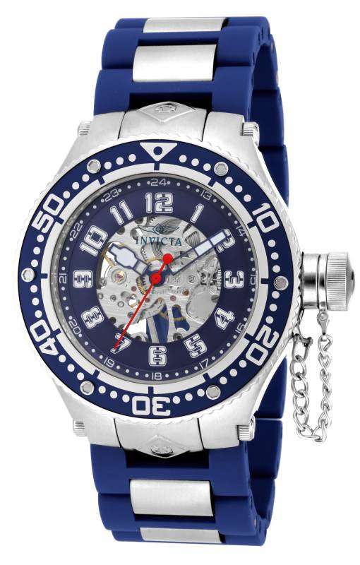 Invicta Men's Corduba Mechanical Stainless Steel Blue Polyurethane Watch 17246
