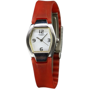 Timex Kids Red Rubber band  white dial analog watch