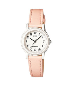 Casio Women's Light Pink Genuine Leather Analog Watch LQ139L-4B2