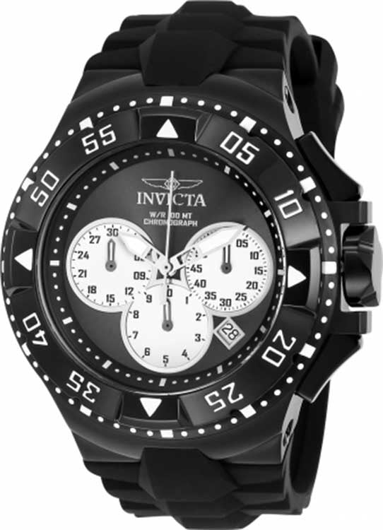 Invicta Men's Excursion Quartz Chronograph Black, Silver Dial Watch 23041