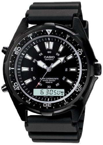 Casio Men's Black Marine Gear Diver's Watch AMW320BN-1A