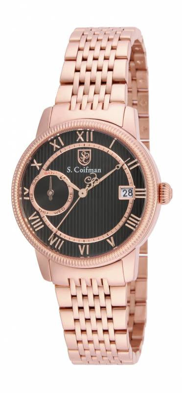 S. Coifman Women's Chrono Quartz Rose Gold Plated Stainless Steel Watch SC0339