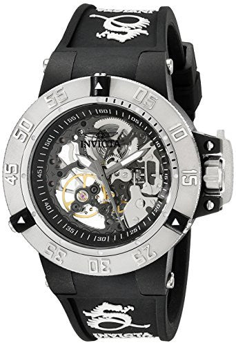 Invicta Women's Subaqua Mechanical 200m Plastic Case Black Silicone Watch 17129