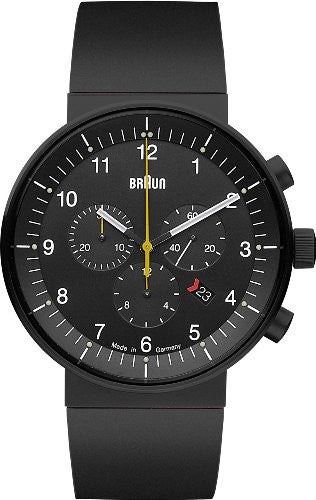 Braun Black Rubber Strap Watch BN0095BKBKBKG