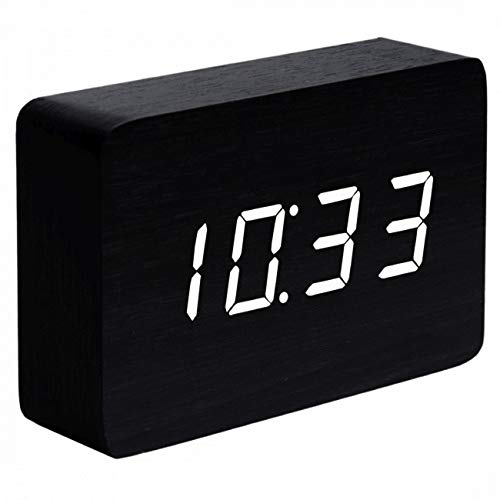 Gingko Brick Click Clock Black White LED 15W10