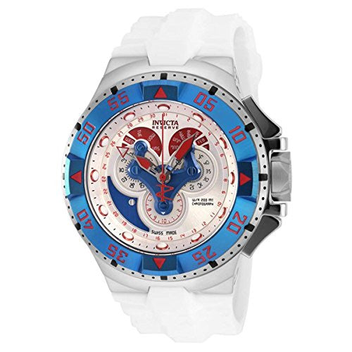 Invicta Men's Excursion Chronograph Stainless Steel White Silicone Watch 18562