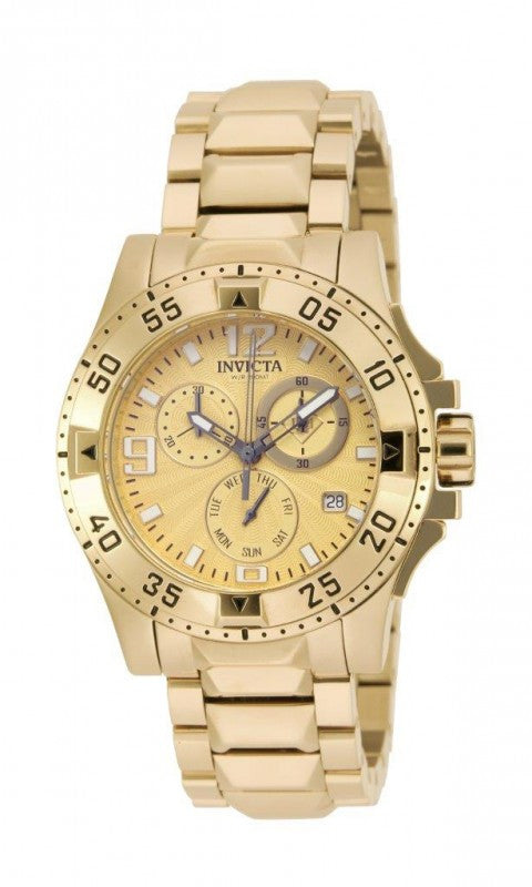 Invicta Women's Excursion Chronograph Gold Plated Stainless Steel Watch 16102
