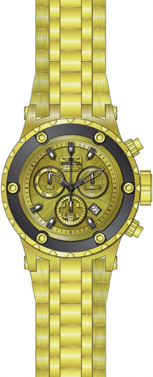Invicta Men's Gold Tone Stainless Steel Watch