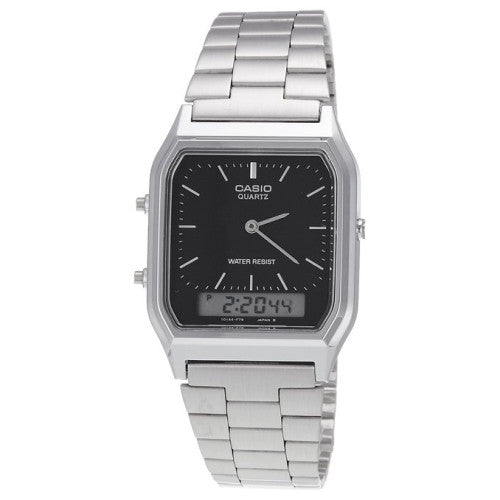 CASIO ANALOG DIGITAL MENS WATCH DUAL TIME AQ-230 AQ230A