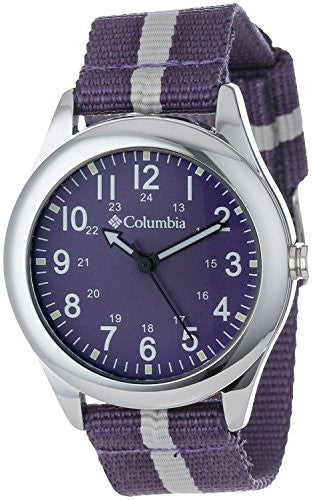 Columbia Unisex Field Fox Analog Military Dial Purple Nylon Watch CA016510
