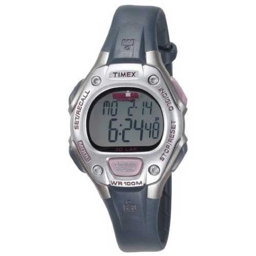 Timex Women's T5K411 Ironman Traditional 30-Lap Light Pink/Gray Resin Strap Watch