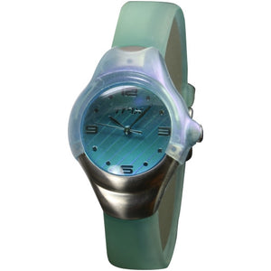 Times Kids Rubber Light  Green band analog watch