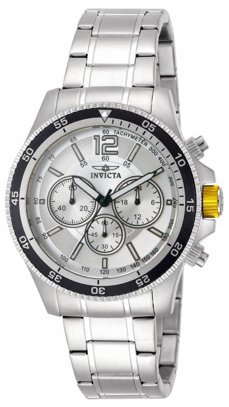 Invicta Men's Specialty Chronograph Analog Quartz Stainless Steel Watch 13975