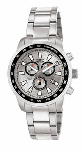 Invicta Men's Specialty Chronograph Analog Quartz Stainless Steel Watch 1554