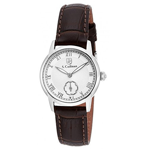 S Coifman Women's Chronograph Quartz Stainless Steel Brown Leather Watch SC0345