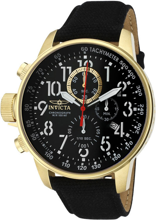 Invicta Men's I-Force Lefty Chronograph 100m S. Steel / Black Canvass Watch 1515