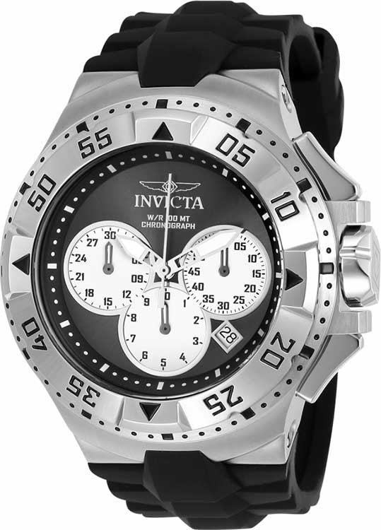 Invicta Men's Excursion Quartz Chronograph Black, Silver Dial Watch  23039