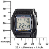 Casio Men's Watch Dual Time 50M 10 Year Battery W201-1