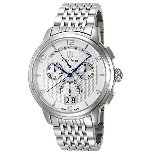 S. Coifman Men's Chronograph Quartz Date Stainless Steel Watch SC0183
